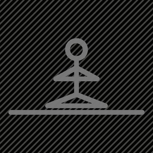 balance, center, heart center, pose, stretch, workout, yoga icon