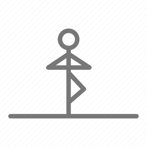 balance, health, pose, stretch, tree, workout, yoga icon
