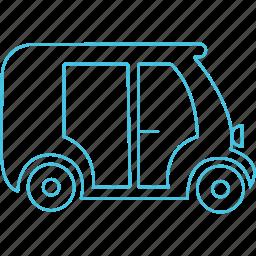 auto, autorikshaw, mumbai, roadways, transport icon