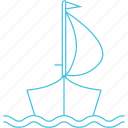 boat, ferry, transport, waterways icon