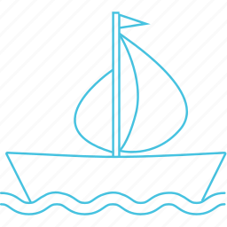 boat, ferry, transport, waterways icon