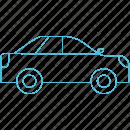 car, roadways, sedan, transport icon