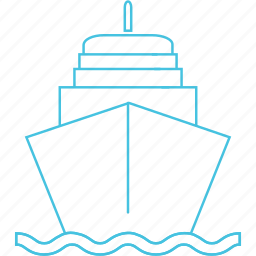 cruise, ship, waterways icon