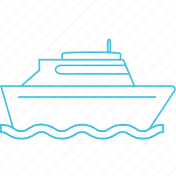 cruise, ferry, ship icon