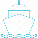 ferry, ship, transport, waterways icon