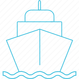 ferry, ship, transport, waterways icon