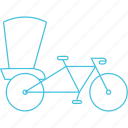 rickshaw, roadways, three-wheeler, transport icon