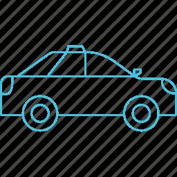 car, roadways, sedan, taxi icon