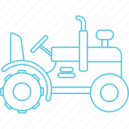 agriculture, roadways, tractor icon