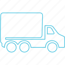 heavy duty, movers, truck icon