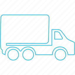 heavy duty, movers, truck icon