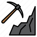 cave, digging, mining, pick, pickaxe icon