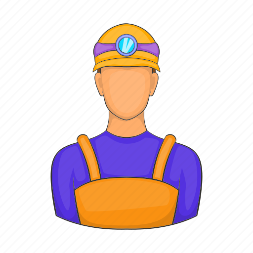 cartoon, gold, male, miner, mineral, mountain, sign icon