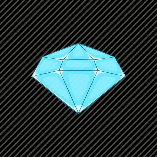 cartoon, crystal, diamond, gem, jewel, polished, sign icon