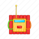 blast, bomb, burst, cartoon, dynamite, explosives, sign icon