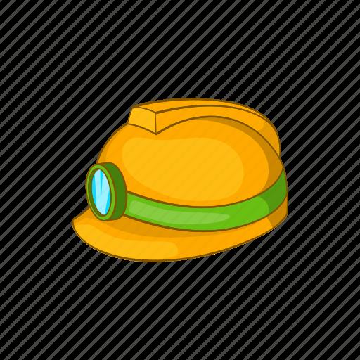 cartoon, construction, hat, helmet, light, safety, sign icon