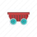 barrow, cart, cartoon, equipment, gardening, sign, wheels icon