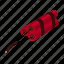 bomb, equipment, explosion, explosive, spent icon