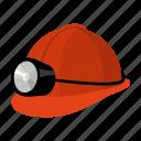 equipment, helmet, lantern, miner, protection icon