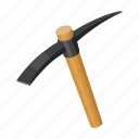 equipment, hammer, industrial, percussion, pickaxe, tool icon