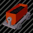 transport, transportation, trolley, vehicle icon