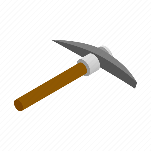 axe, heavy, isometric, pick, pickaxe, rocks, steel icon