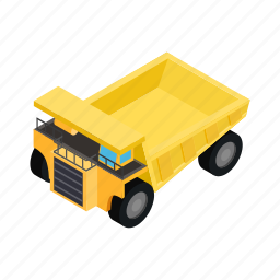 digger, isometric, machine, machinery, ore, stormy, transport icon