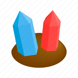 crystal, gui, isometric, jewel, land, mineral, stone icon