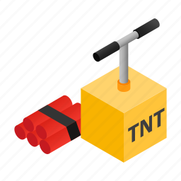 dynamite, explode, explosion, explosive, isometric, tnt, weapon icon