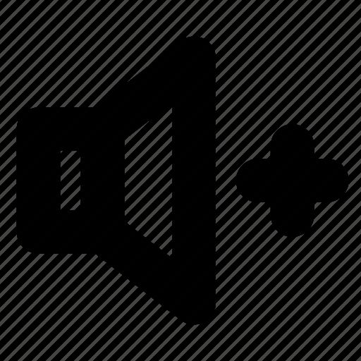 audio, increase, sound, speaker, volume icon