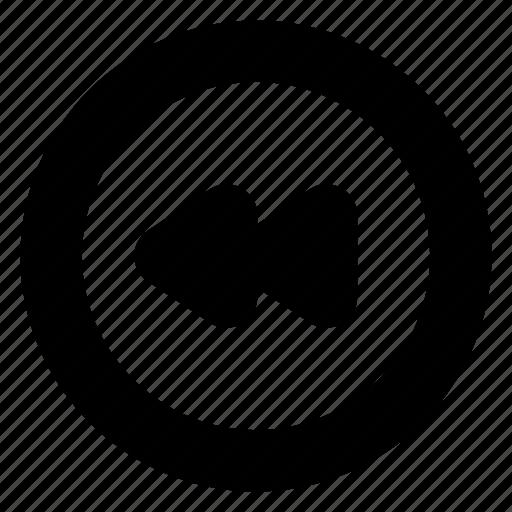 back, control, music, previous, rewind, video icon
