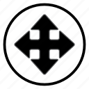 arrow, crossroads, navigation, navigation icon icon