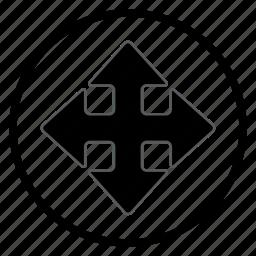 arrow, crossroads, navigation, navigation icon icon