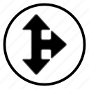 arrow, navigation, navigation icon icon