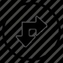 arrow, bone, navigation, navigation icon, right icon
