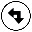 arrow, bone, left, navigation, navigation icon icon