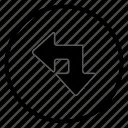 arrow, bone, left, navigation, navigation icon icon