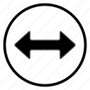arrow, left, navigation, navigation icon, right icon