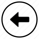 arrow, left, navigation, navigation icon icon