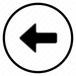 arrow, left, navigation, navigation icon icon