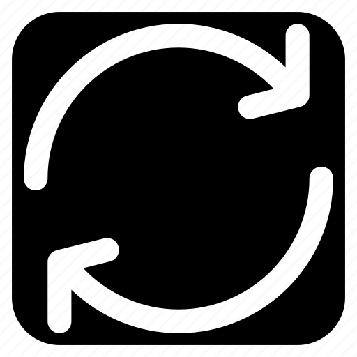 loop, refresh, restore, reverse icon