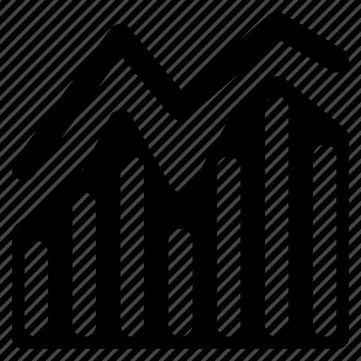 accounting, graph, stat, statistics, stock icon