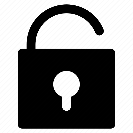 encode, reveal, security, unlock, unsecure icon