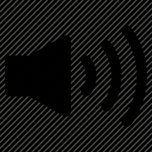audio, lound, sound, speaker icon