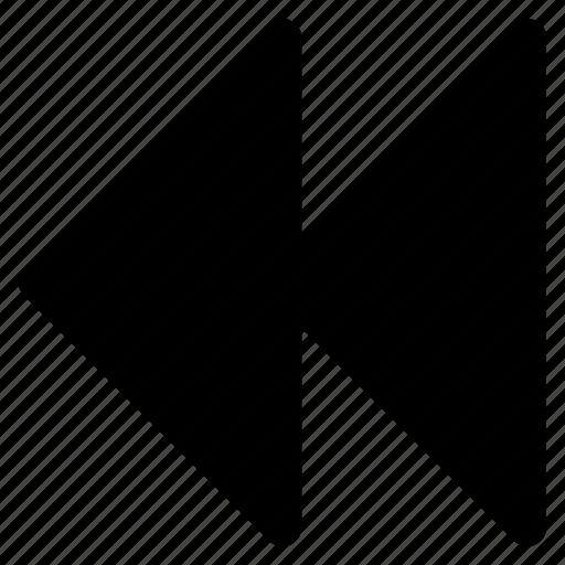 backward, clip, music, video icon