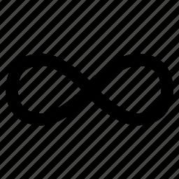 eternity, infinity, loop, unending icon