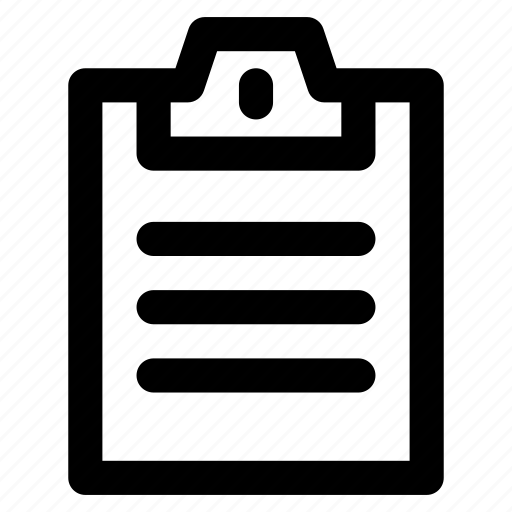 document, list, plan, questionnaire, research icon