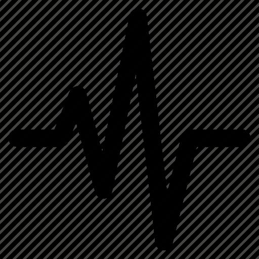 activity, movement, rhythm, signal, sound, wave icon