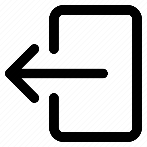 arrow, back, exit, leave, out, sign icon