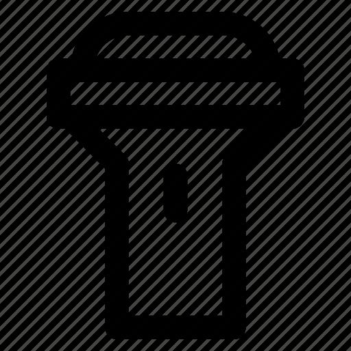 camping, epuipment, flashlight, light, torch icon